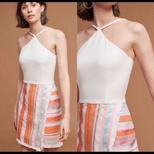 NTW - Anthropologie Kalyn Halter Top Fringe Dress